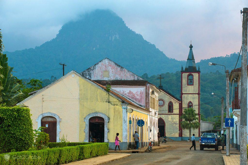 centro histórico de Santo António, ilha do Principe, São Tomé e Principe