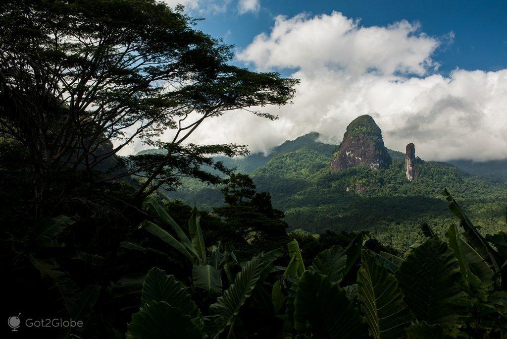 Vista do Monte Papagaio, ilha do Principe, São Tomé e Principe