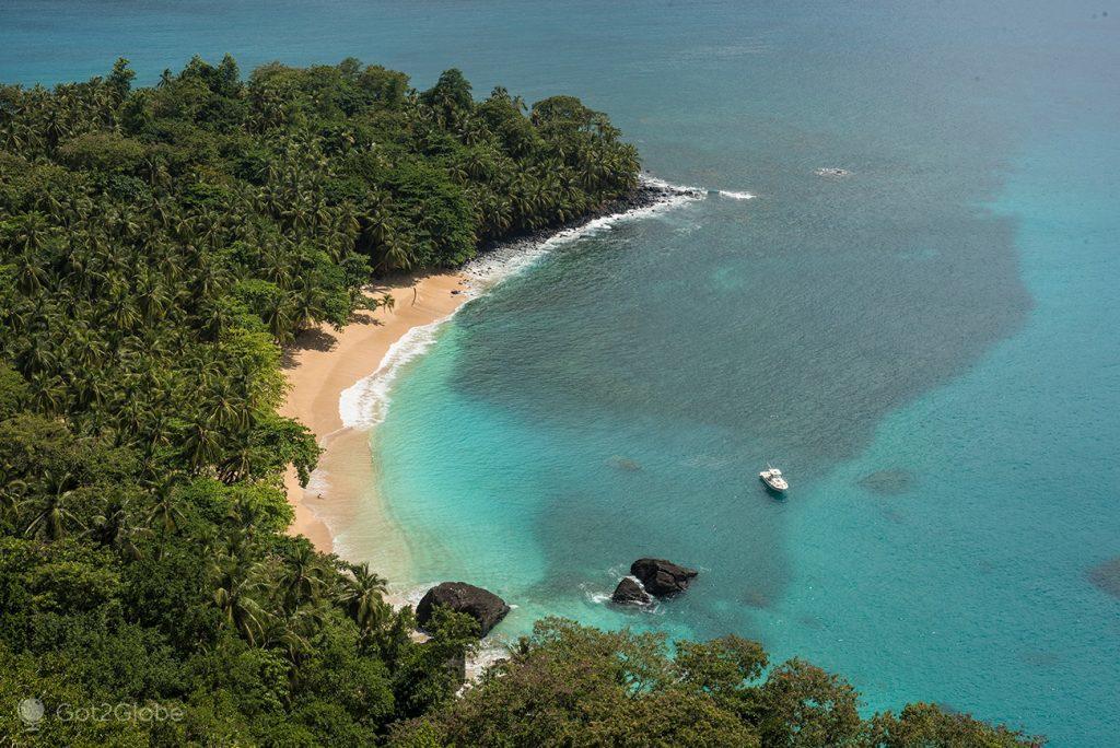 Praia da Banana, ilha de Príncipe, São Tomé e Principe