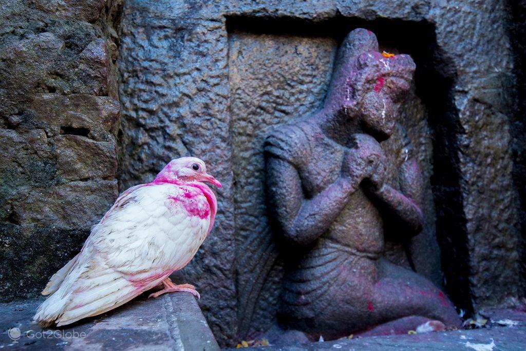 Detalhe do templo de Kamakhya, em Guwahati, Assam, Índia
