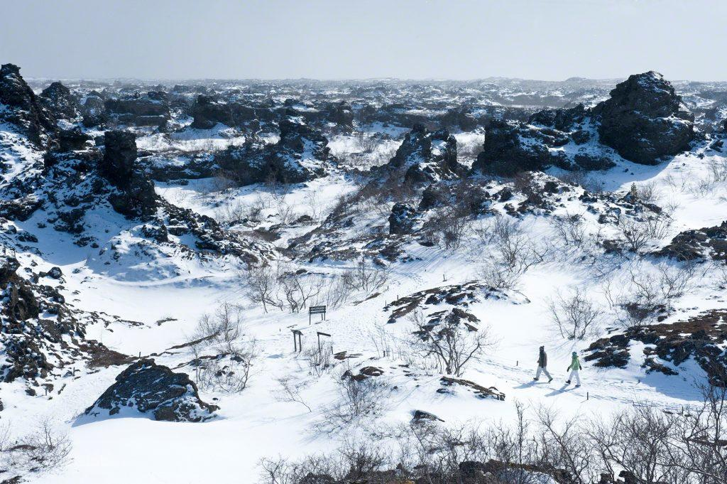 Dimmuborgir, Islândia Neve Sem Fim Ilha Fogo