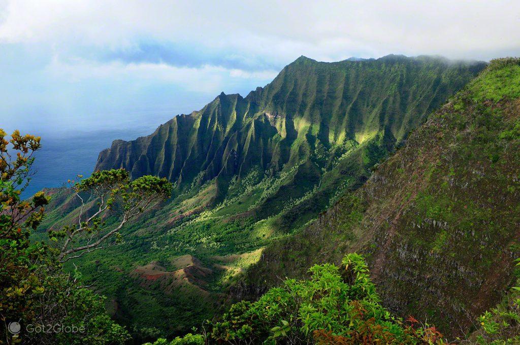 Napali Coast e Waimea Canyon, Kauai, Rugas do Havai