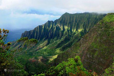 Napali Coast e Waimea Canyon, Kauai, Rugas do Havai
