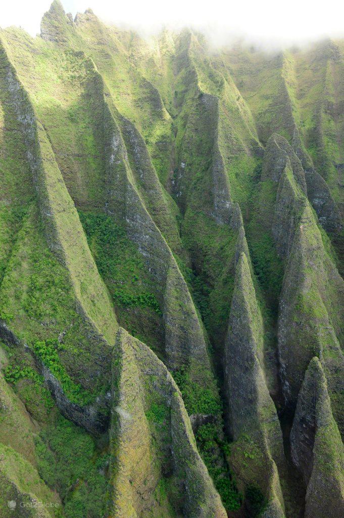 Sulcos, Napali Coast e Waimea Canyon, Kauai, Rugas do Havai