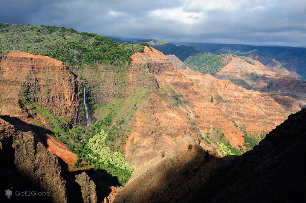 Waimea Canyon, Kauai, Rugas do Havai