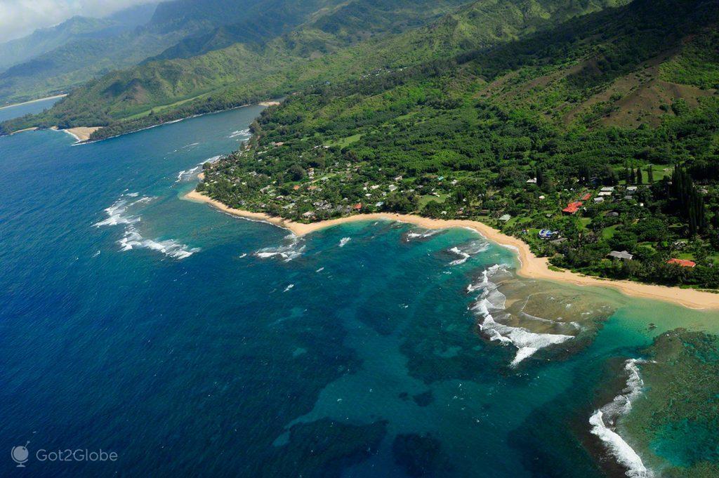 Costa urbanizada, Napali Coast e Waimea Canyon, Kauai, Rugas do Havai