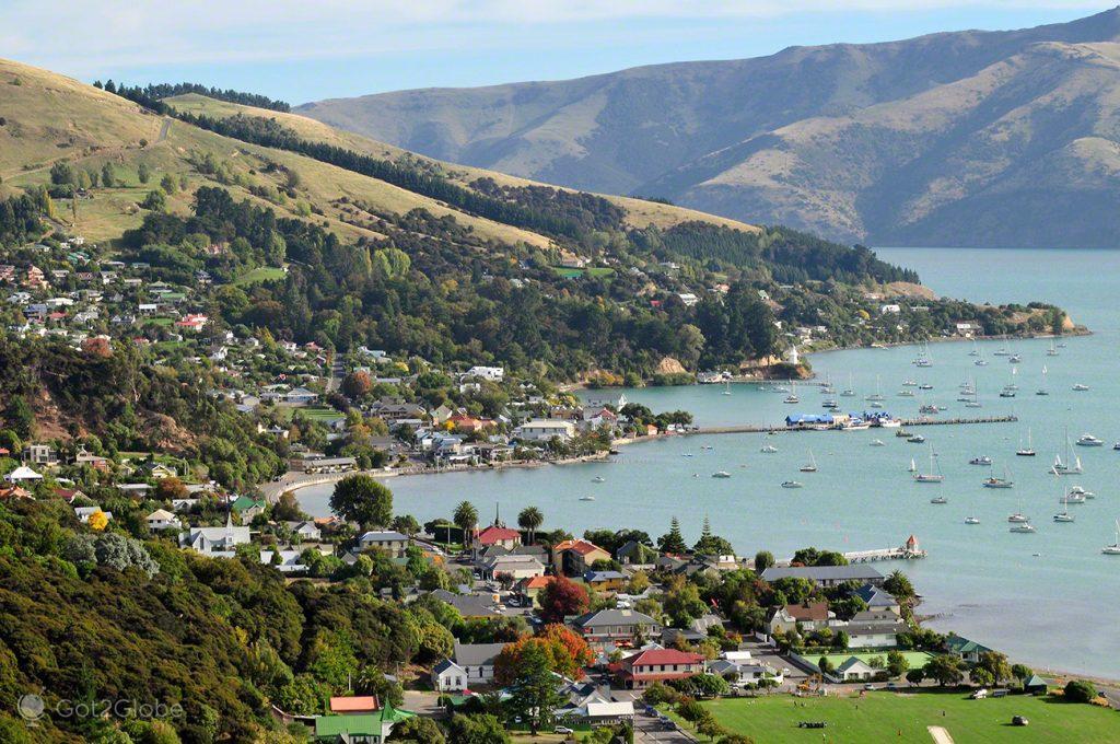 Akaroa, Península Banks, Canterbury, Nova Zelândia