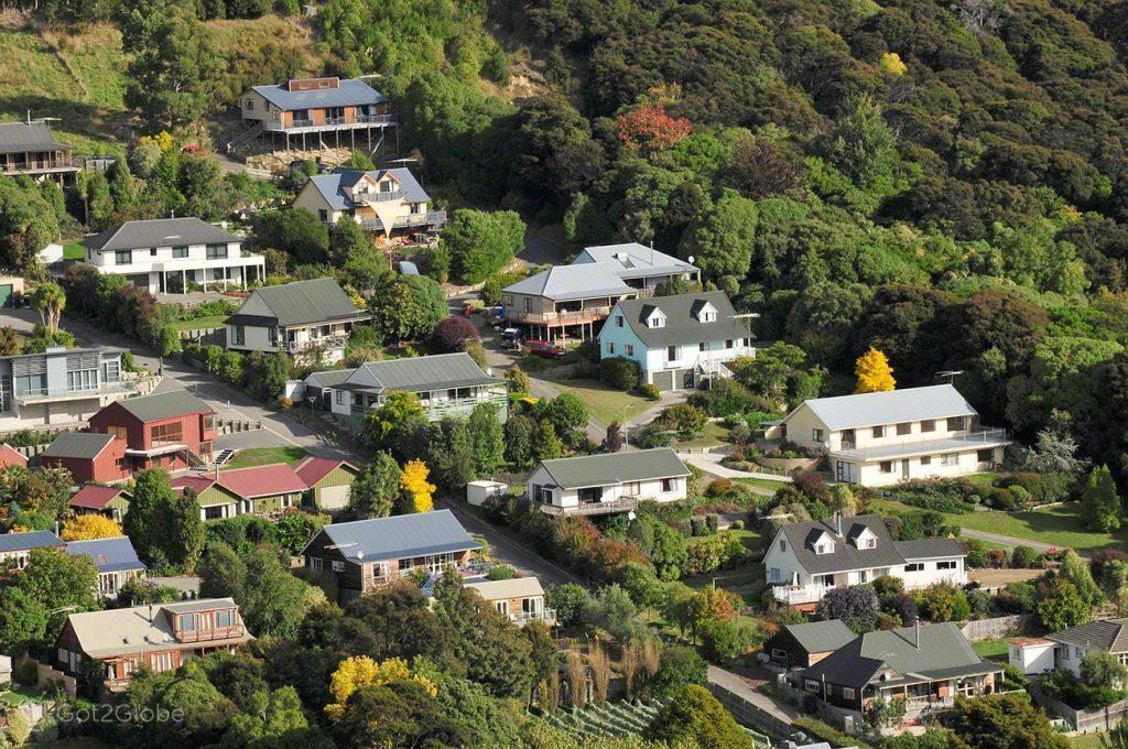 Vivendas de Akaroa, Península Banks, Canterbury, Nova Zelândia