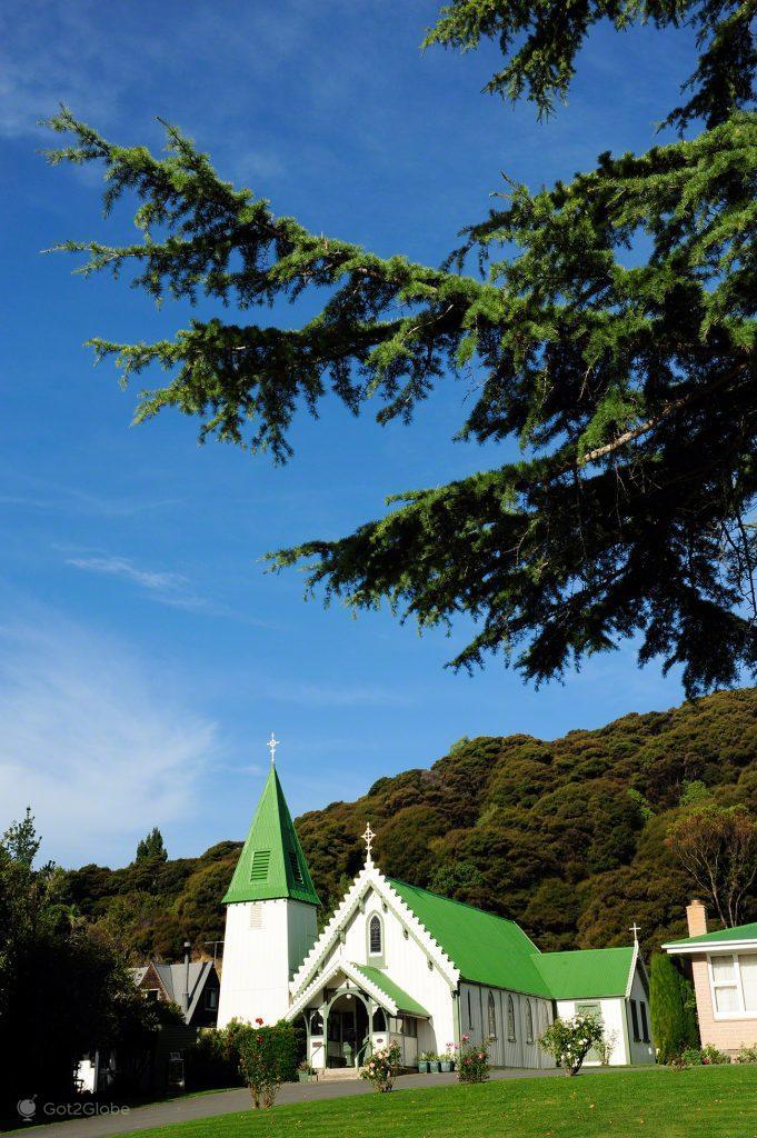 Igreja Saint Patrick de Akaroa, Península Banks, Canterbury, Nova Zelândia