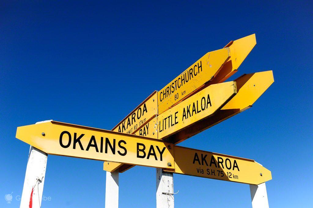 Direcções, Península Banks, Akaroa, Canterbury, Nova Zelândia