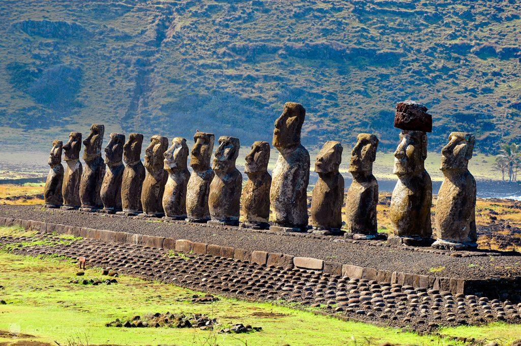 ahu tongariki, Ilha Pascoa, Rapa Nui, Chile