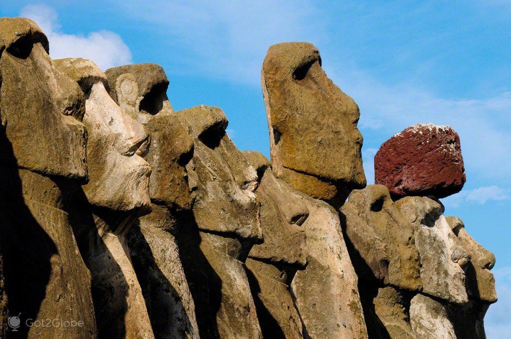 Moais Ahu Tongariki, Ilha Pascoa, Rapa Nui, Chile
