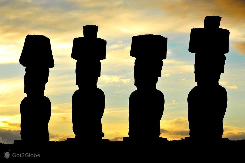 Ahu Ature Huki, Ilha Pascoa, Rapa Nui, Chile