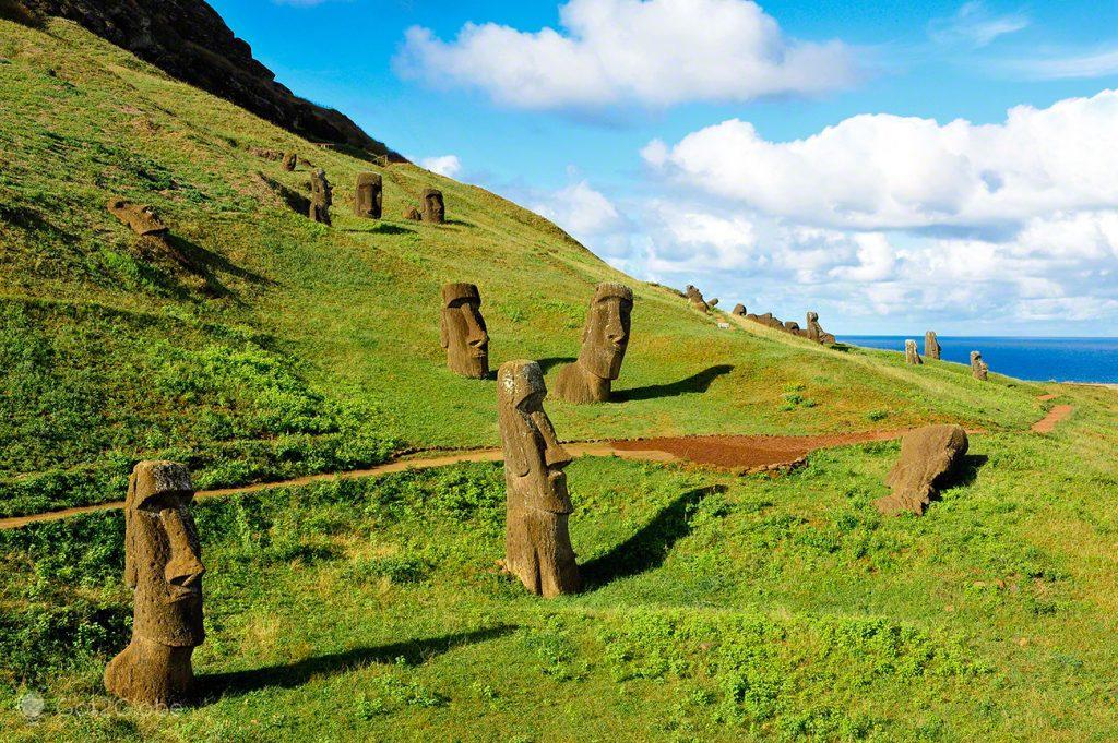Rano Raraku, Ilha Pascoa, Rapa Nui, Chile