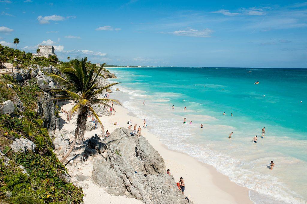 Praia, Tulum, Ruínas Maias da Riviera Maia, México