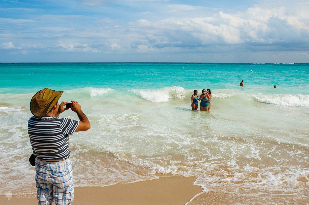 Família praia de Tulum, Ruínas Maias da Riviera Maia, México