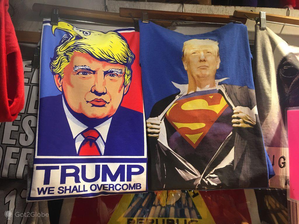 T-shirt com Donald Trump, Key West, Flórida, Estados Unidos