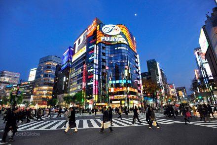 Cruzamento movimentado de Tóquio, Japão