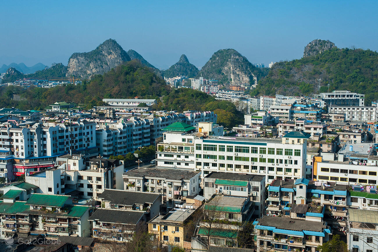 Edifícios de Guilin, província de Guangxi, China