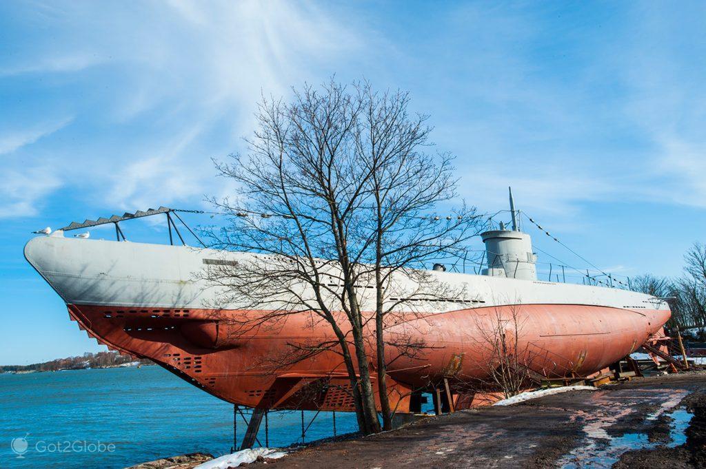 Submarino Vesikko, Suomenlinna, Helsínquia, Finlândia