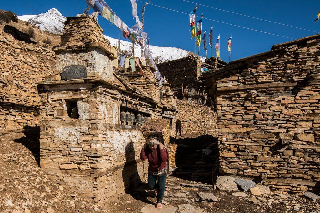 Morador de Ghyaru, Nepal