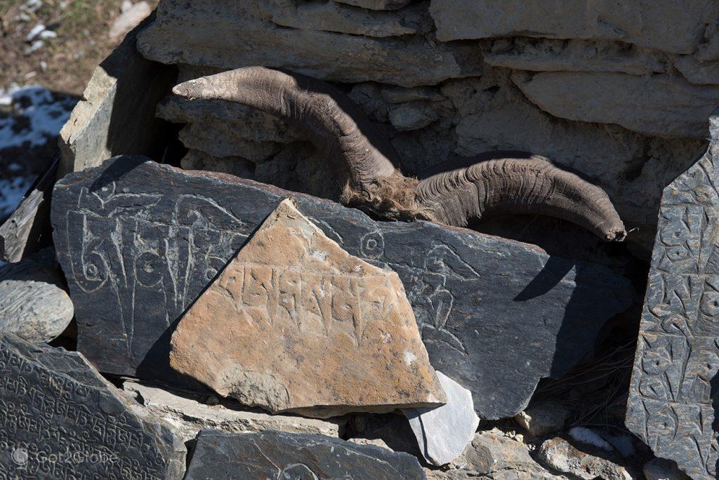 Pedra mani, Upper Pisang, Nepal