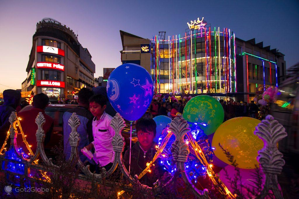 Cena natalícia, Shillong, Meghalaya, Índia