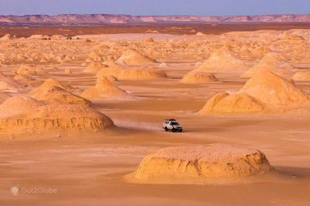 Cenário marciano do Deserto Branco, Egipto