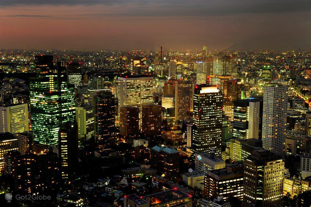 Prédios dourados de Tóquio, Japão