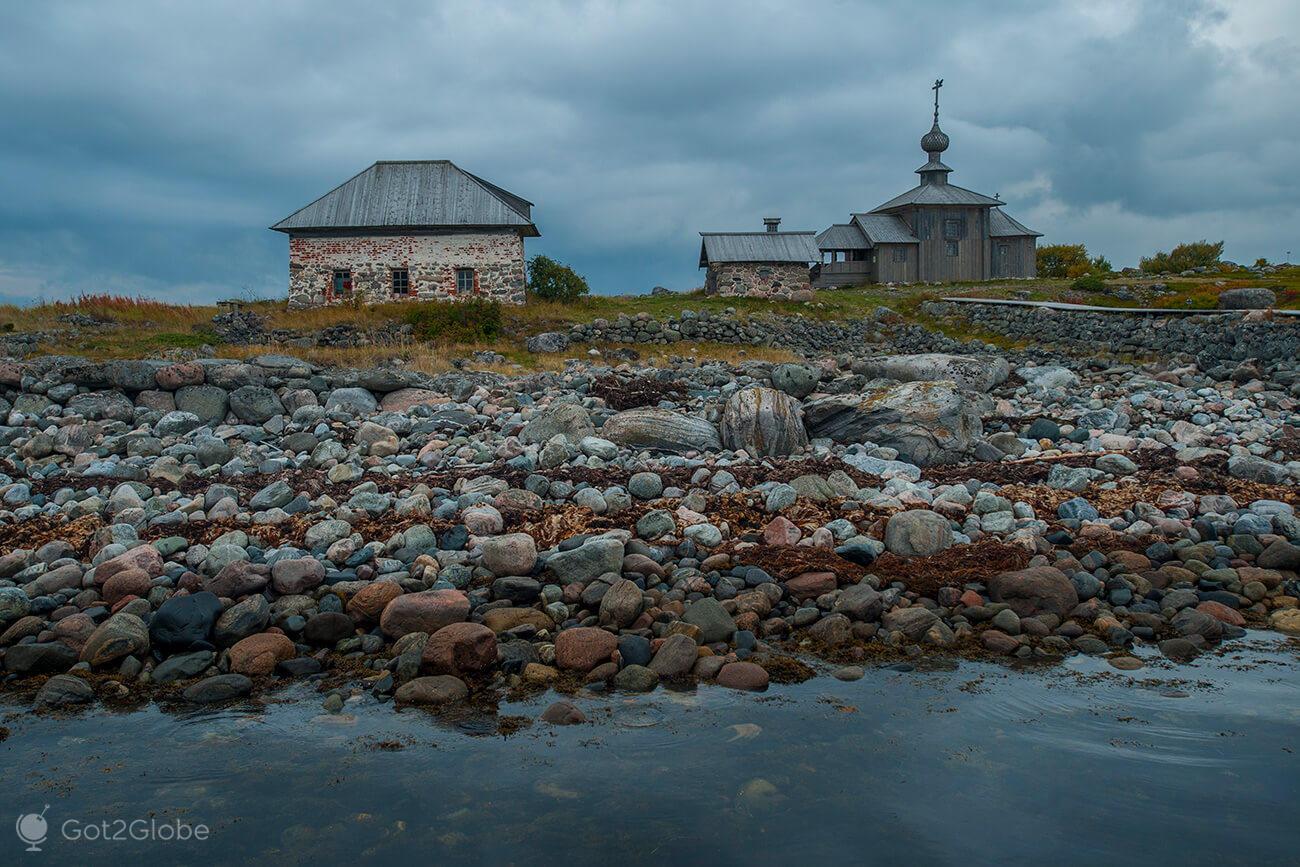 Igreja ortodoxa, Bolshoi Zayatski, ilhas Solovetsky, Rússia