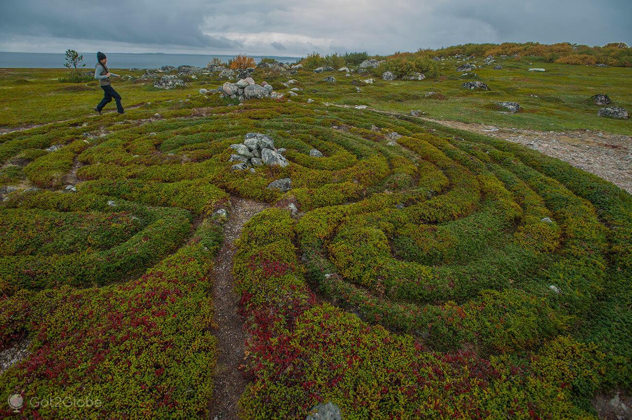 Labirinto milenar, ilha Bolshoi Zayatski, ilhas Solovetsky, Rússia