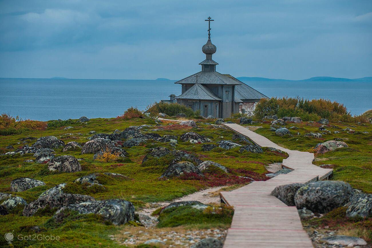 Igreja Ortodoxa de Bolshoi Zayatski, ilhas Solovetsky, Rússia