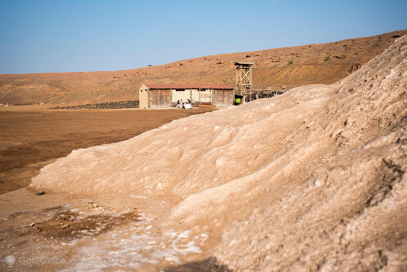 monte de sal, Salinas de Pedra de Lume, ilha do Sal