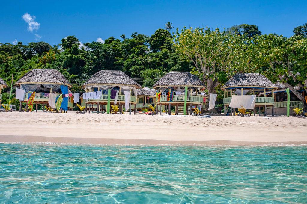 Cabanas na Praia-Vaiala, Upolu, Samoa Ocidental