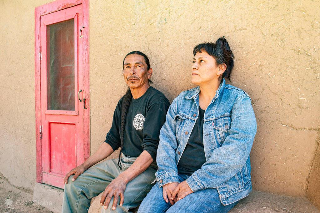 Nativos de Taos, Novo México, E.U.A.