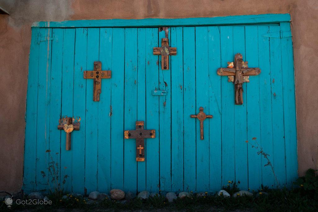 Decoração de rua, em Taos, Novo México, E.U.A.