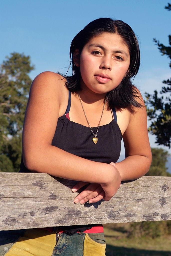 Jovem mapuche, Quelhue, Pucón, Chile