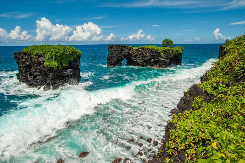 Ilhéus de lava, Upolu, Samoa Ocidental, Polinésia