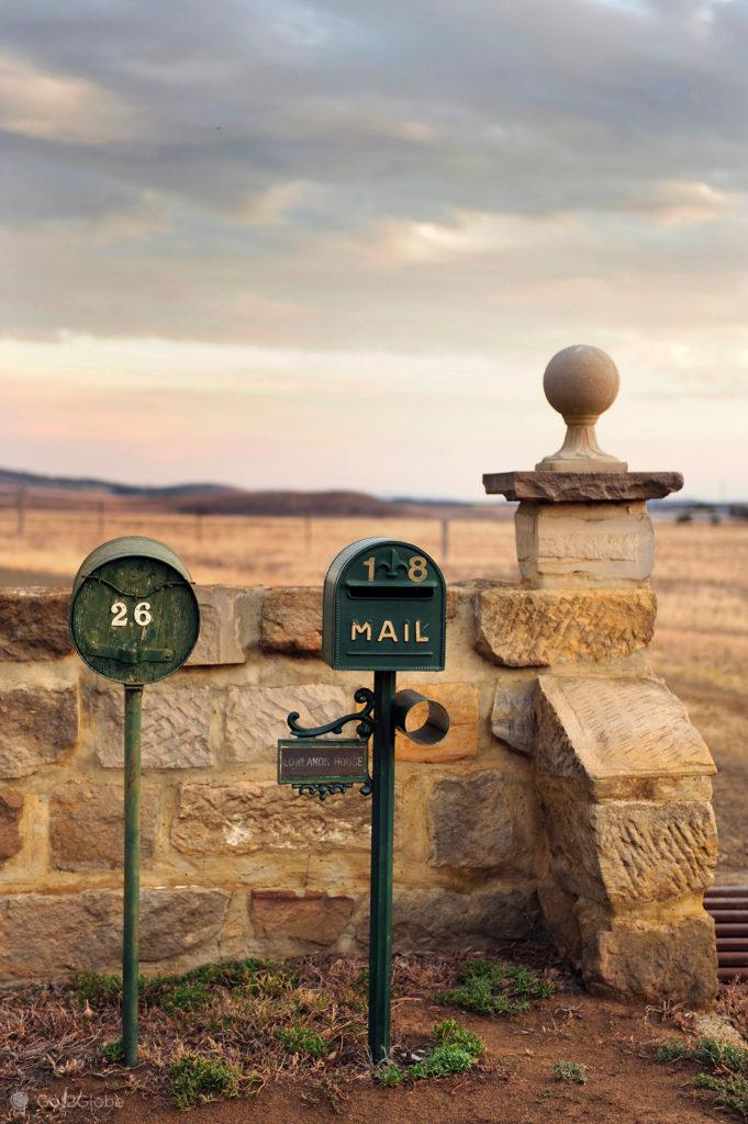 Caixas de correio em Ross, Tasmânia, Austrália