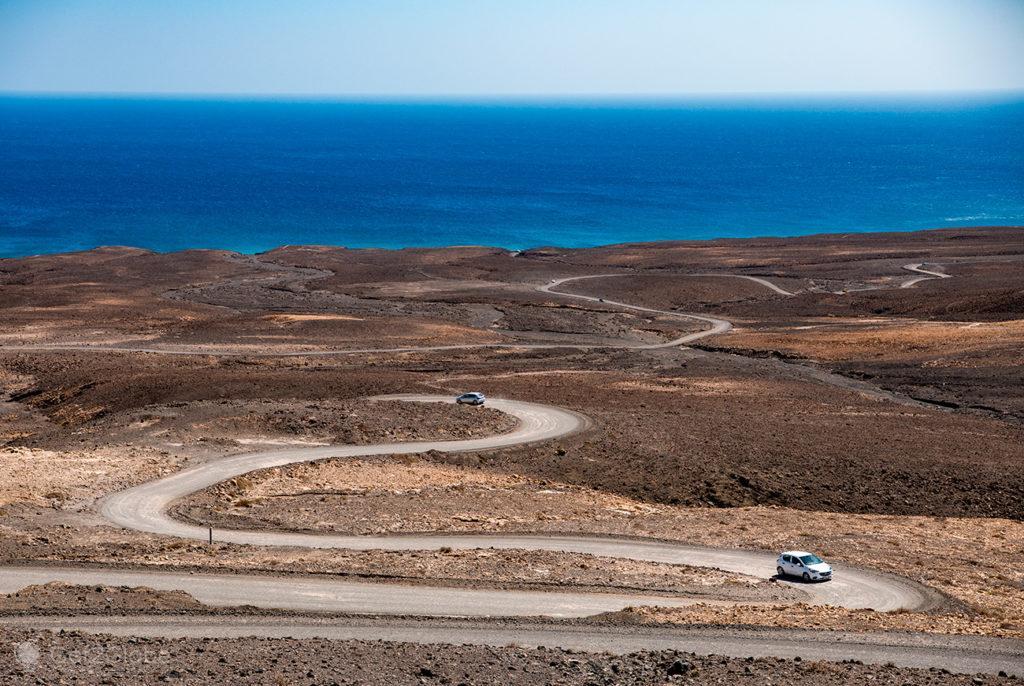 Estrada para Cofete, Fuerteventura, ilhas Canárias, Espanha