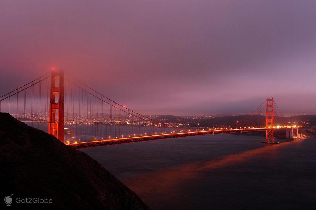 Golden Gate Bridge de São Francisco, Califórnia, Estados Unidos da América