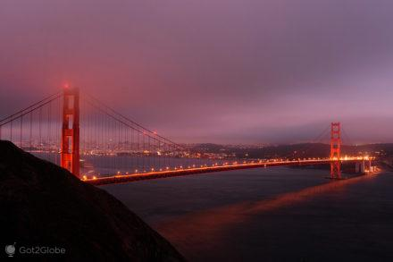 Golden Gate Bridge de São Francisco, Califórnia, Estados Unidos da América