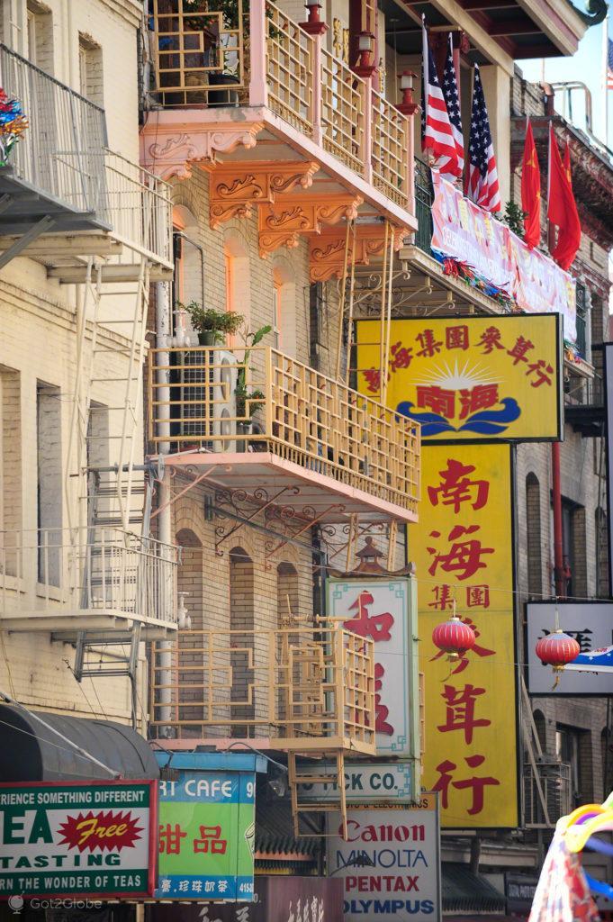 Letreiros da Chinatown, São Francisco, Califórnia, Estados Unidos da América