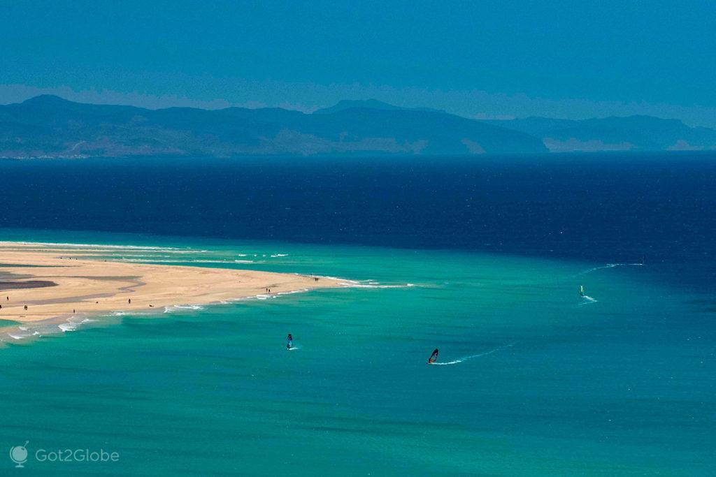 Windsurfers, Fuerteventura, ilhas Canárias, Espanha