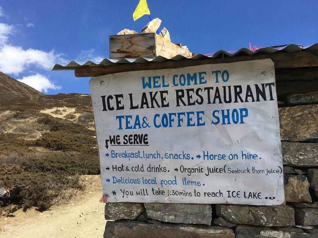 Ice Lake Restaurant na subida para o Ice Lake, Circuito Annapurna, Nepal