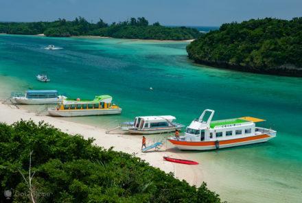 Barcos fundo de vidro, Kabira Bay, Ishigaki