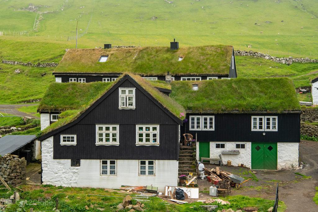 Casas tradicionais de Mykines, Ilhas Faroé