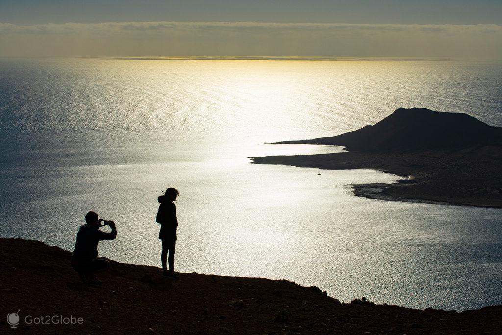 Casal no limiar norte de Lanzarote, Canárias, Espanha