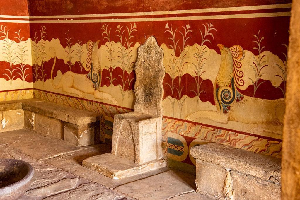 Sala do Trono, Palácio de Cnossos, Creta, Grécia