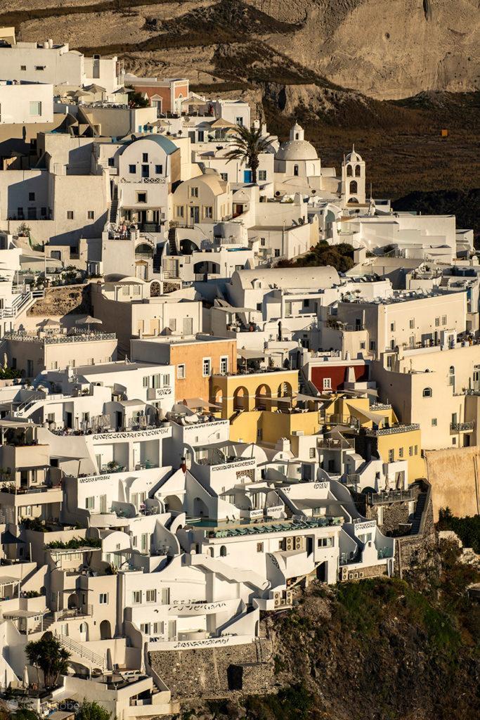 Edifícios de Thira, Santorini, Grécia